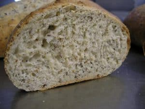 A flax seed bread - great any time of day!